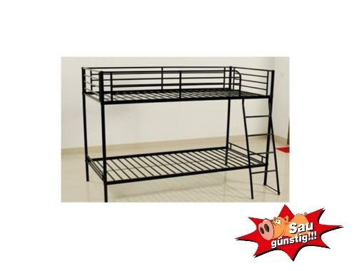metallbett hans etagenbett doppelstockbett einzelbett. Black Bedroom Furniture Sets. Home Design Ideas