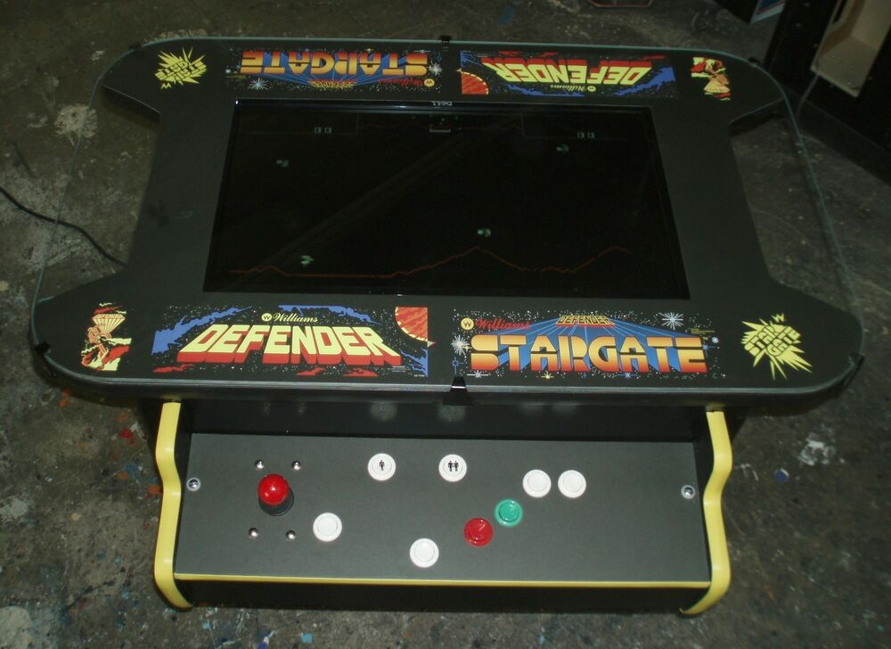 Pacman Table Game >> Defender / Stargate Cocktail Table Arcade Video Multi Game Machine | eBay