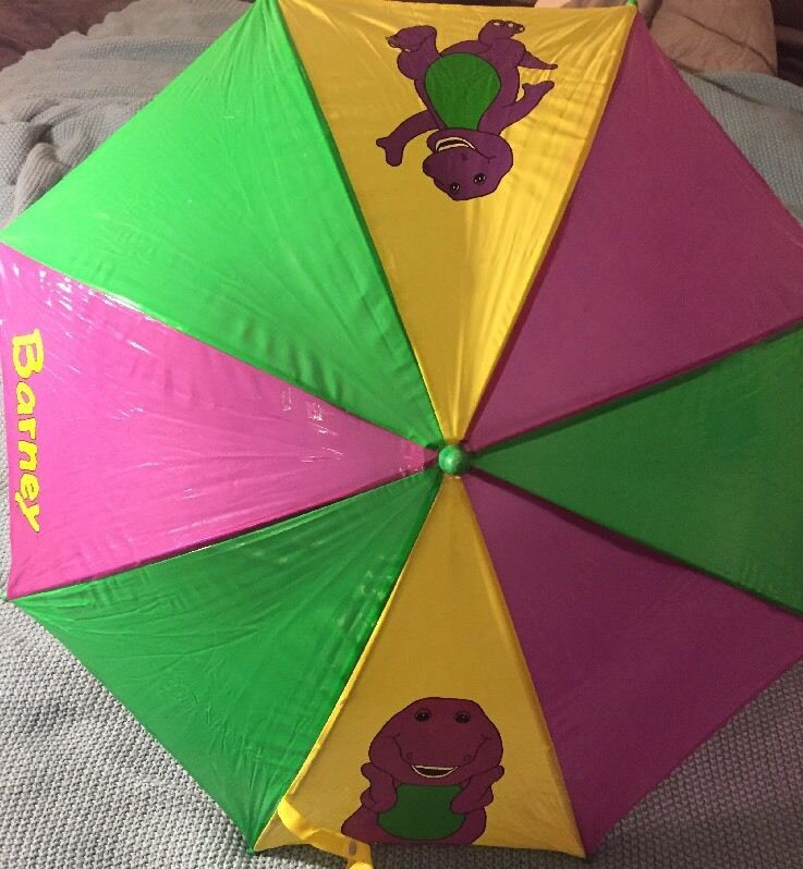 Rare 1990s Barney Umbrella Collectible In Great Condition As Is