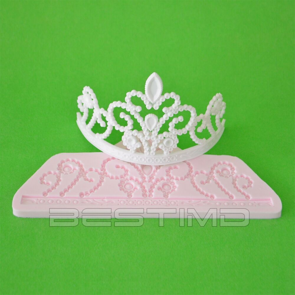 Cake Decoration Molds : Princess Tiara Silicone Clay Moulds Fondant Sugarcraft ...