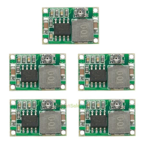5PCS Adjustable 3A DC-DC Converter Module Step Down Buck Power Supply Replace