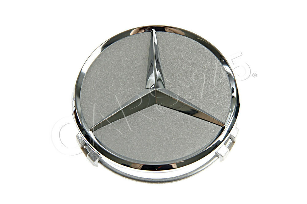 Genuine wheel center hub cap star silver chrome cover for Silver star mercedes benz parts