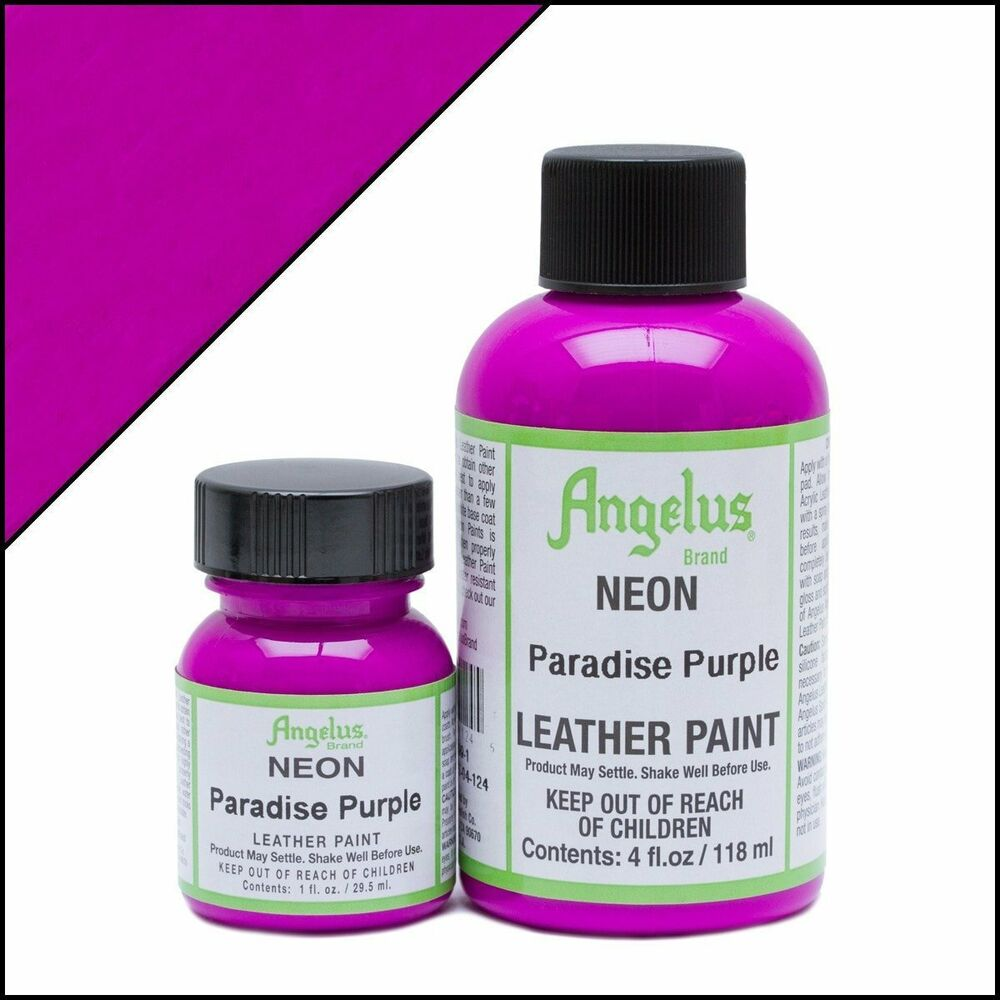 Angelus Neon Paradise Purple Leather Paint 1 Oz Ebay