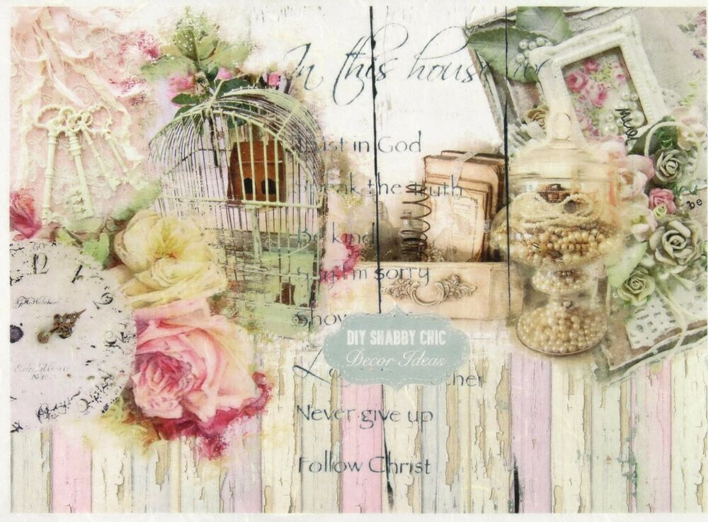 Shabby Chic Paper For Crafting
