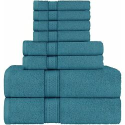 Kyпить 8 Piece Towel Set includes Bath Towel Hand Towel Washcloth 600 GSM Utopia Towels на еВаy.соm