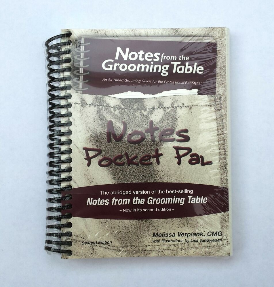 NOTES POCKET PAL DOG GROOMING BOOK BY MELISSA VERPLANK 2nd edition  9780975412817 | eBay