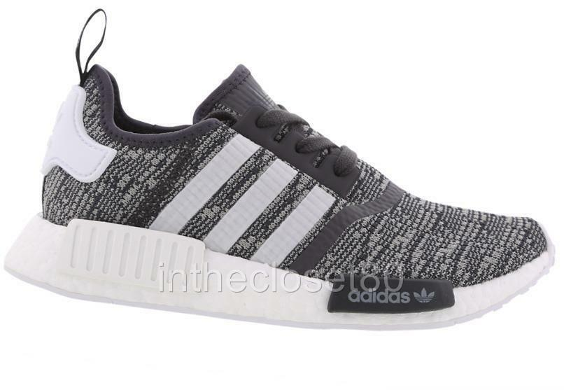 013adcf44fc02 Details about Adidas NMD R1 Boost Utility Black Grey BY3035 Womens Trainers  See Sizes