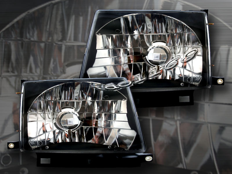 Details About 97 99 00 Toyota Tacoma Headlights Crystal Bk 98 Lamps
