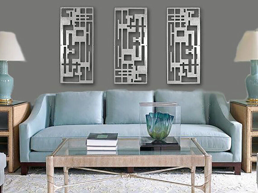 Abstract Stainless Steel Wall Sculpture Art Metal