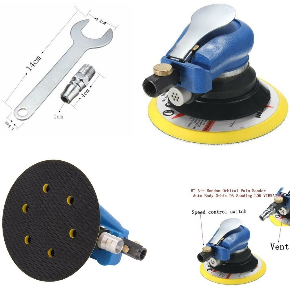 2019 New Style 6 Air Random Orbital Palm Sander Auto Body Orbit Da Sanding Low Vibration Air Random Orbital Palm Sander Sanders