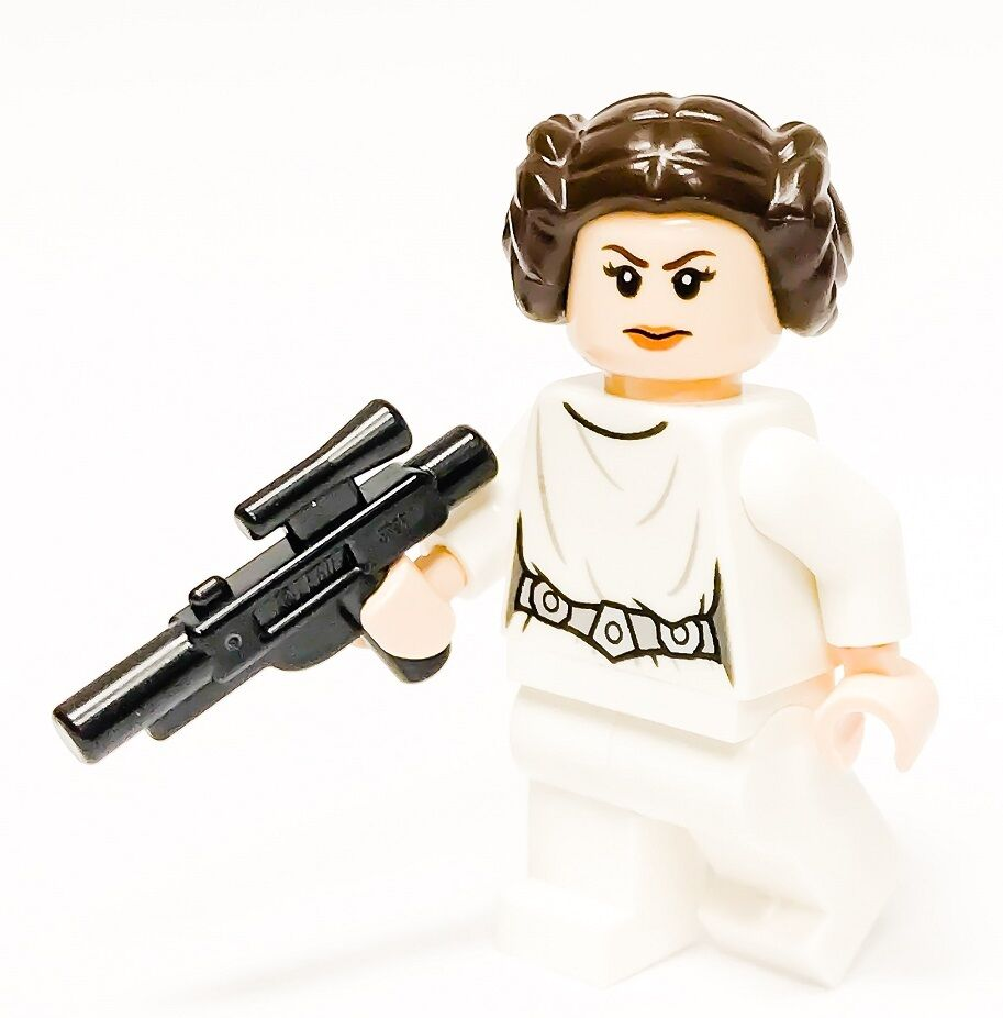 Lego star wars minifigure princess leia blaster carrie - Personnage star wars lego ...