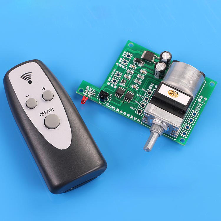 Remote Volume Control : Remote control volume board audio preamp microcomputer