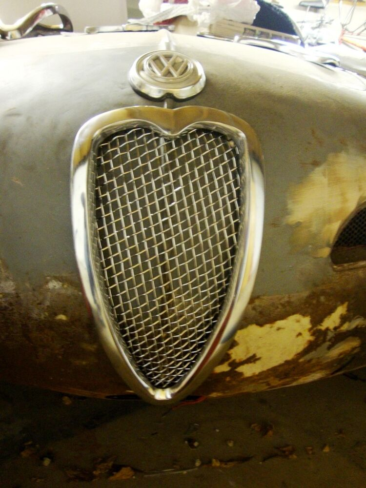 Ultra Rare Karmann Ghia Accessory Nose Grill For Vw Grille