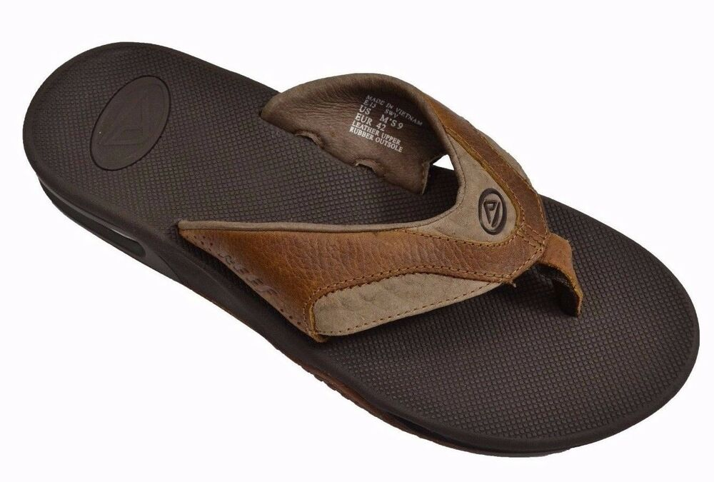 reef leather fanning brown br2 bottle opener 2416 men 39 s sandals ebay. Black Bedroom Furniture Sets. Home Design Ideas