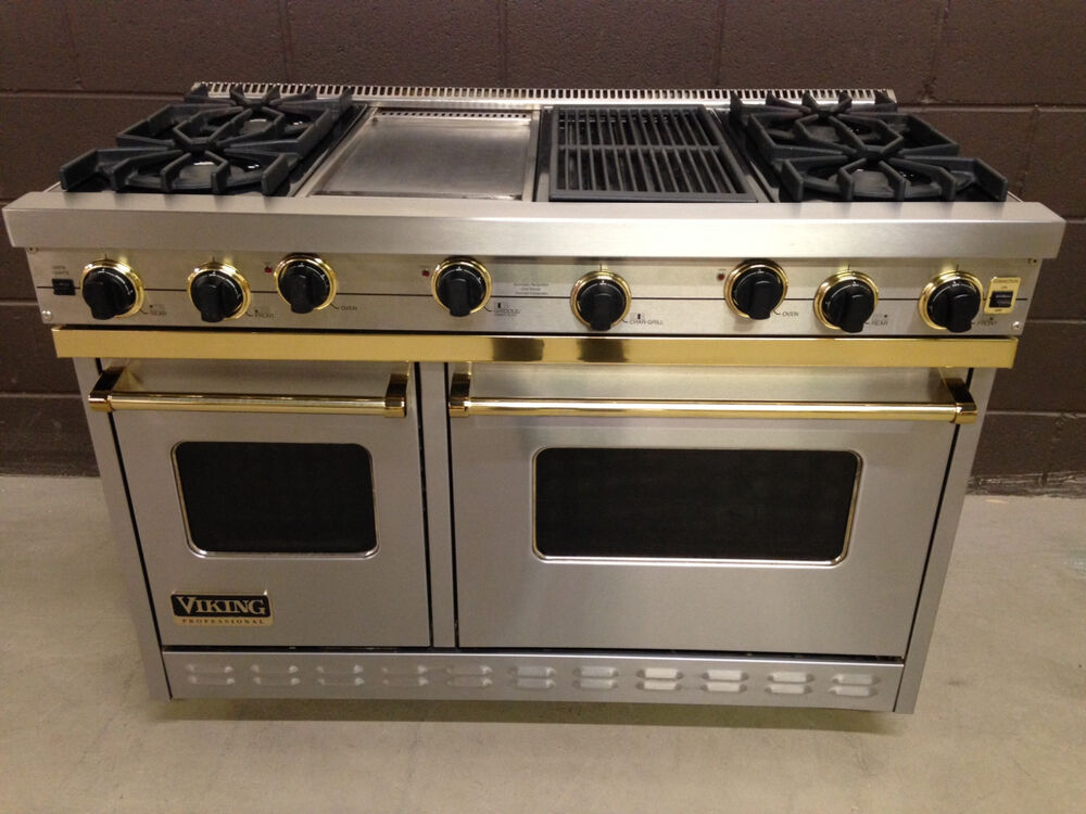 Viking 48 Quot Range Vgic48646gqssbr Gas 4 Burners