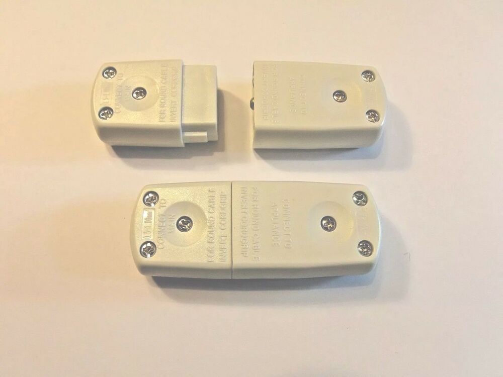 10amp 250v 3 Pin Mains Electrical Flex Plug Cable Joiner