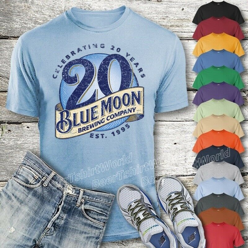 Blue Moon Beer T Shirt Custom Designed Color Worn Label Pattern Ebay