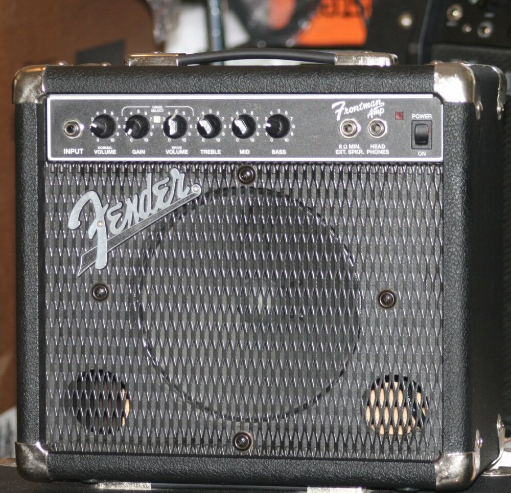 fender frontman electric guitar amp or small pa system w free new mic echo pedal ebay. Black Bedroom Furniture Sets. Home Design Ideas