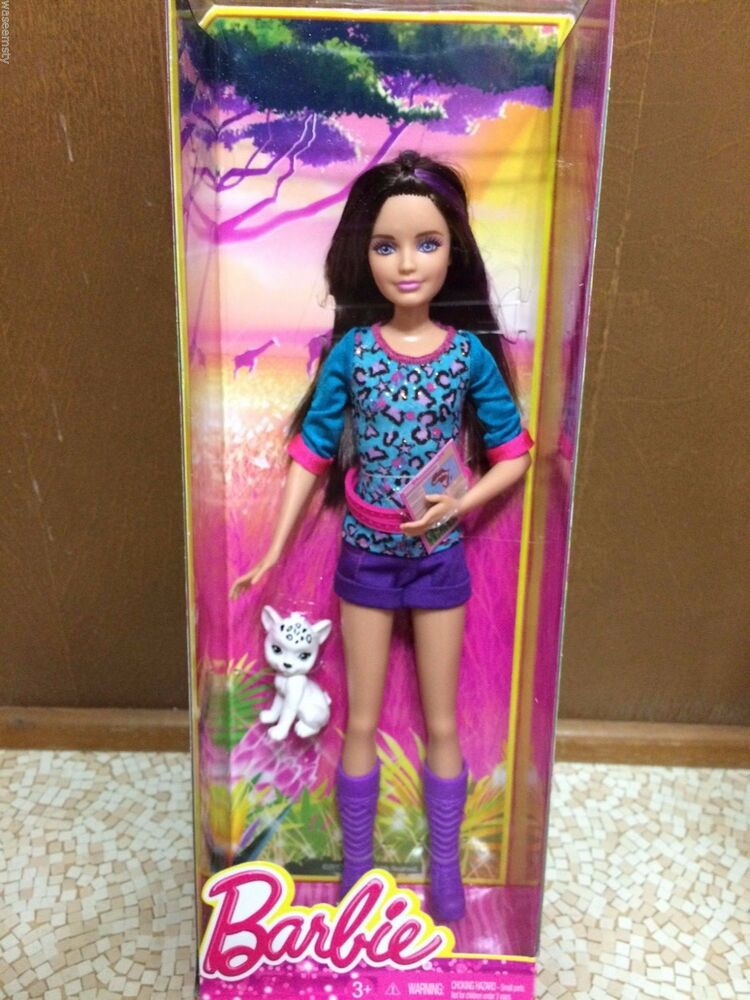 Barbie Sister Teen Skipper Brunette Purple Highlight Hair