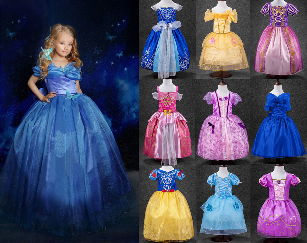 Princess Sofia Cinderella Costume Party Long Gown Dress Up ...