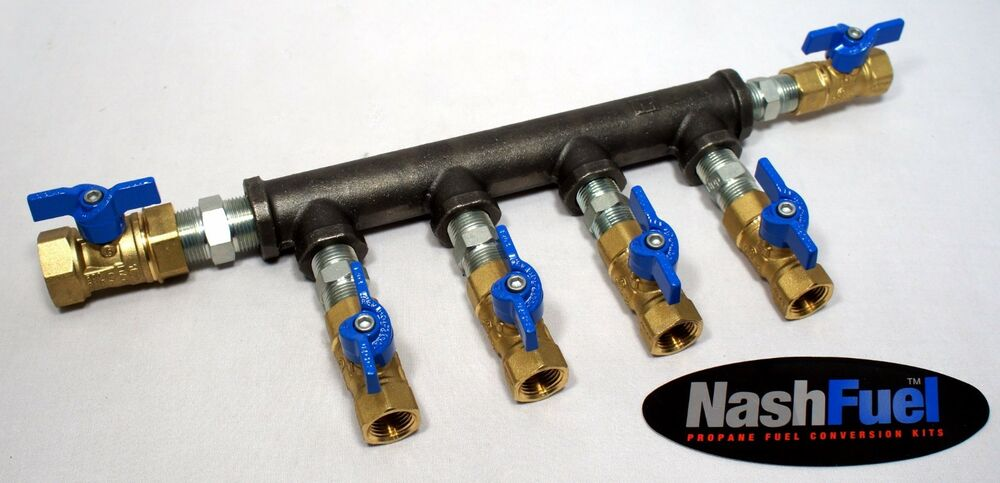 High Pressure Manifold : Propane natural gas manifold ball valve lock off low