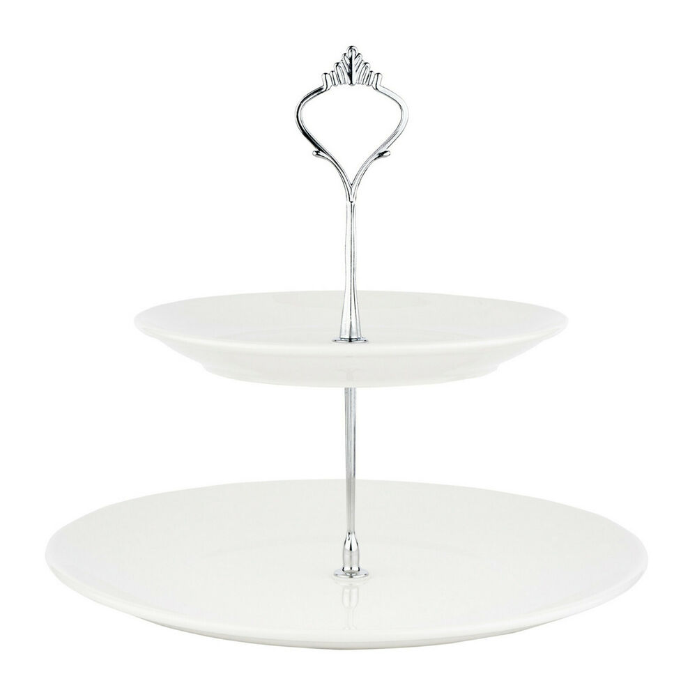 White Ceramic Wedding Cake Stands