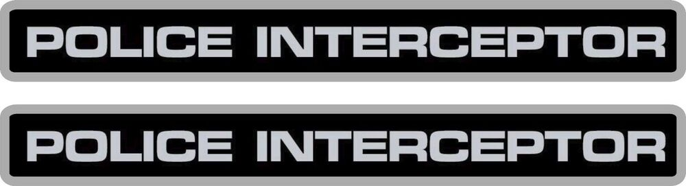 2 Pack Police Interceptor Decals Stickers Crown Vic 8