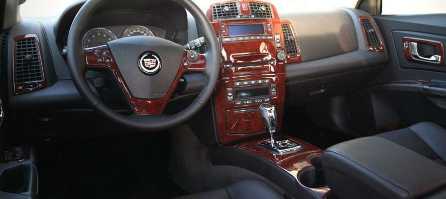 cadillac cts interior burl wood dash trim kit set 2003 03 2004 04 2005 2006 2007 ebay. Black Bedroom Furniture Sets. Home Design Ideas
