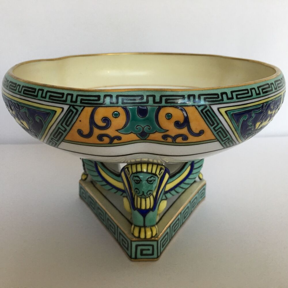 Vintage nippon compote art deco style with winged griffins - Deco vintage chic ...