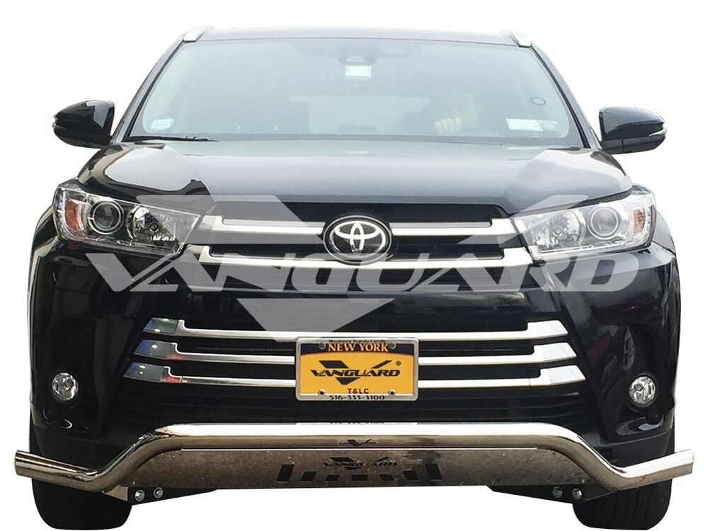 Car Bumper Guard >> VANGUARD 14-17 TOYOTA HIGHLANDER FRONT BUMPER PROTECTOR GUARD BULL BAR LOW S/S | eBay