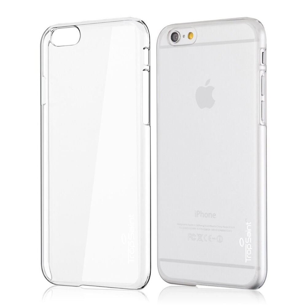 coque transparente iphone se 5s 5 6 6s plus rigide ultra fine trop saint ebay. Black Bedroom Furniture Sets. Home Design Ideas
