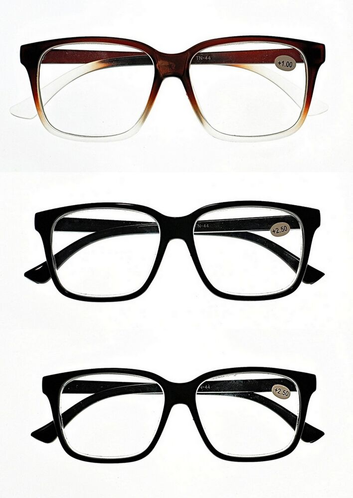 Large Frame Retro Reading Glasses : Stylish Funky Bold Big Frame Retro 2017 Fashion Reading ...