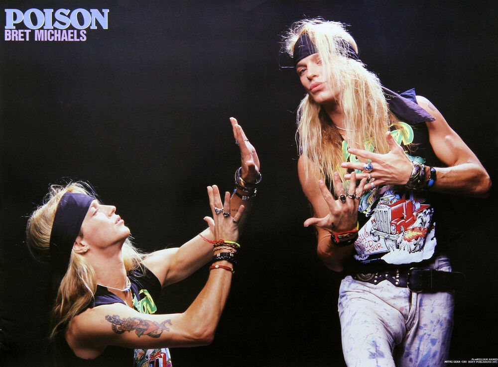 poison bret michaels 1980s metal gear exclusive poster. Black Bedroom Furniture Sets. Home Design Ideas