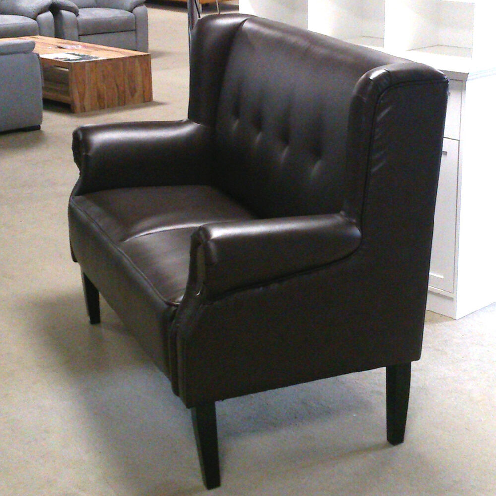 speisesofa tischsofa chesterfield sofa k chensofa 2 sitzer dunkelbraun gl nzend ebay. Black Bedroom Furniture Sets. Home Design Ideas