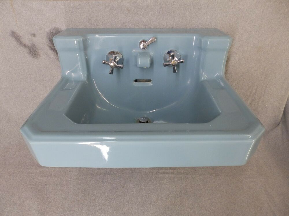 ebay bathroom sinks vtg medium blue porcelain ceramic bathroom sink 12761