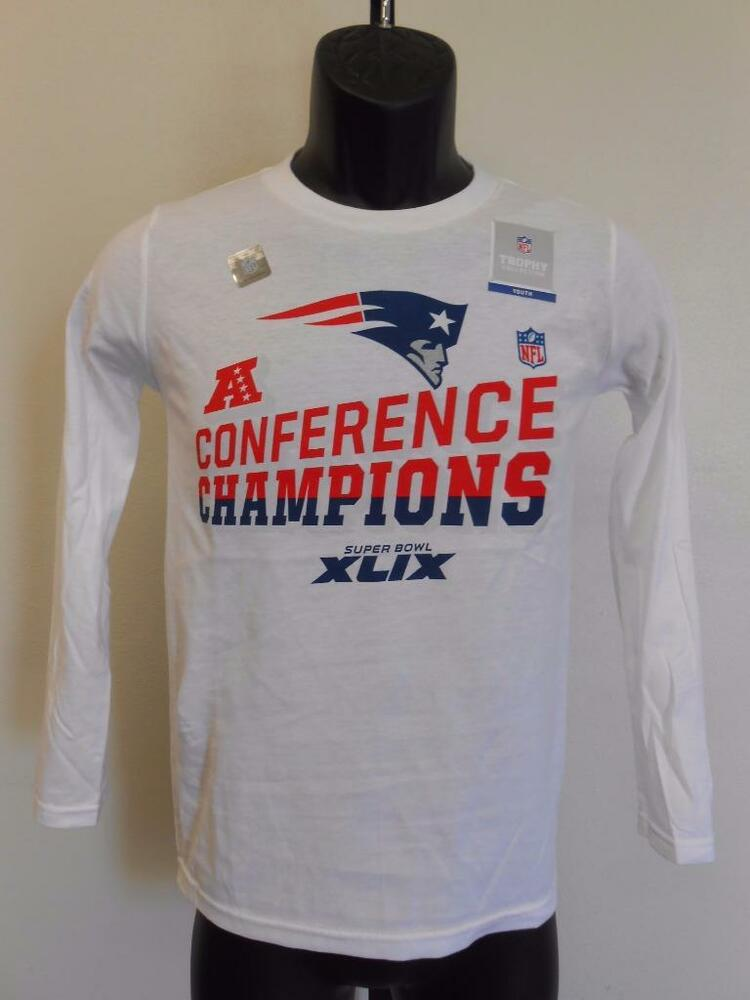 Details about NEW 2014 AFC CHAMPIONS SUPERBOWL PATRIOTS youth S SMALL SIZE  8 SHIRT 70WJ fd706a85d