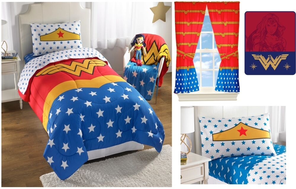 New Kids Girls Wwf Wonder Woman Bedding Bed In A Bag