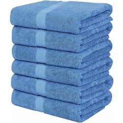 Kyпить Pack 6 Cotton Bath Towels 22x44 Inch Super Absorbent  For Pool Spa Utopia Towels на еВаy.соm