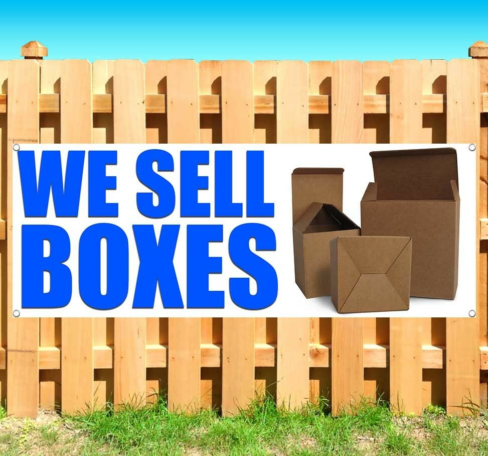 We Sell Boxes Advertising Vinyl Banner Flag Sign Many