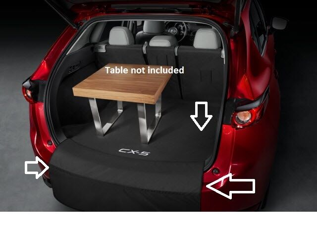 2017 mazda cx 5 soft cargo liner 00008kr06 ebay. Black Bedroom Furniture Sets. Home Design Ideas