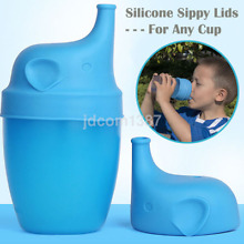 Safety Silicone Sippy Lid Toddler Baby Bottle Cover a Sippy Cup Leak Proof US