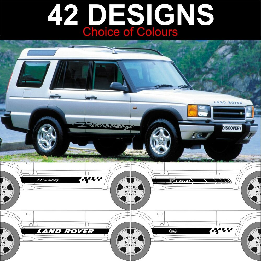 Landrover Discovery Side Stripe Decals Stickers Land Rover