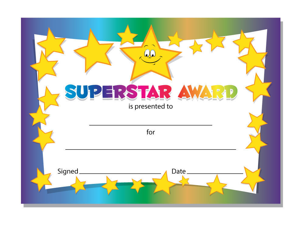 It is a picture of Sizzling Printable Award Template