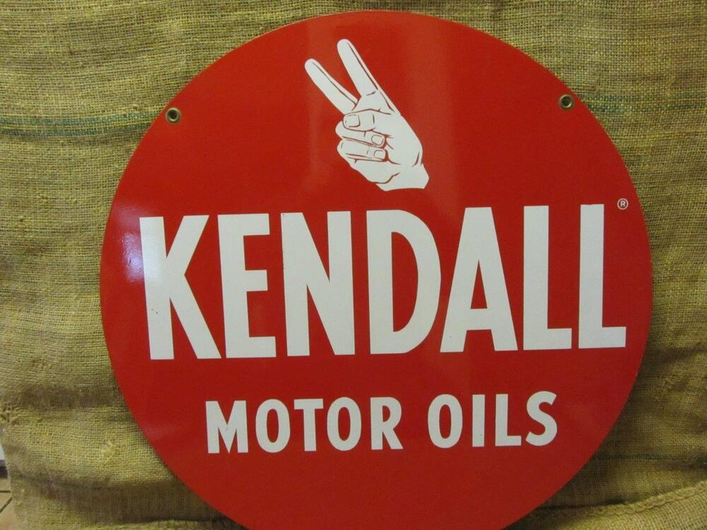 Vintage Kendall Motor Oil Sign Antique Old Gas Station