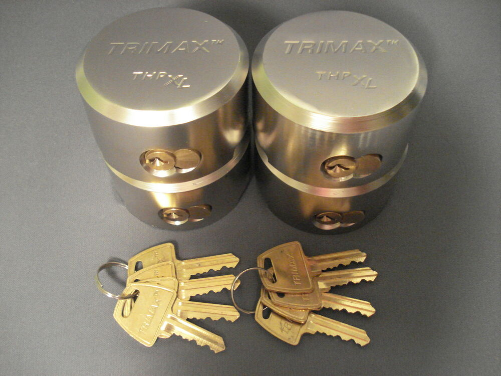Trimax 4 Pack Keyed Alike Quot Hockey Puck Quot Enclosed Cargo