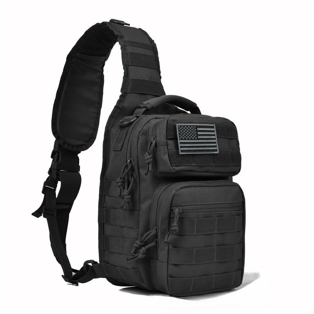 Tactical sling bag military backpack pack rover small for Spiderwire sling fishing backpack
