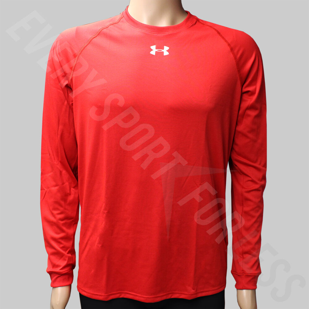 7ac73ada Details about Under Armour Locker Tee Long Sleeve Youth Athletic Shirt -  Red (NEW)