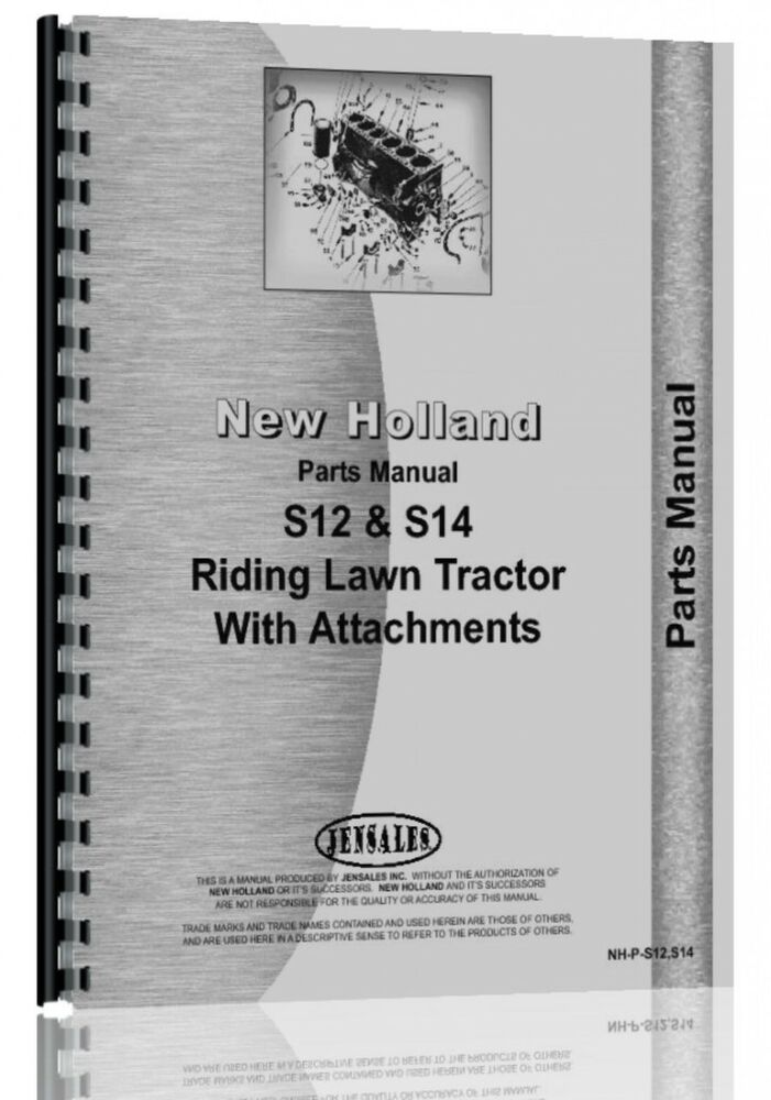 New Holland Lawn Garden Parts Manual S12 S14 Lawn Garden Ebay