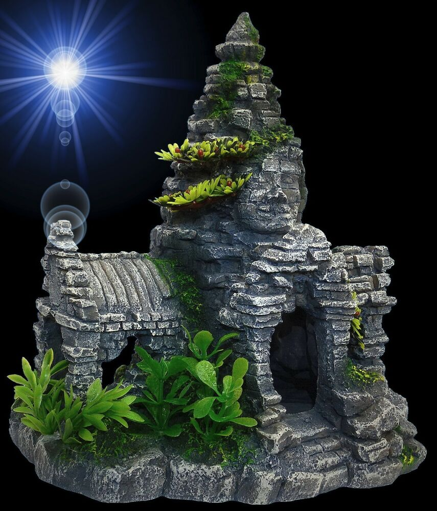 aquarium deko tempel haus angkor wat terrarium h hle. Black Bedroom Furniture Sets. Home Design Ideas