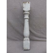 1 Antique Turned Wood Spindle Porch Baluster Thick Old Vtg Architectural 546-17R